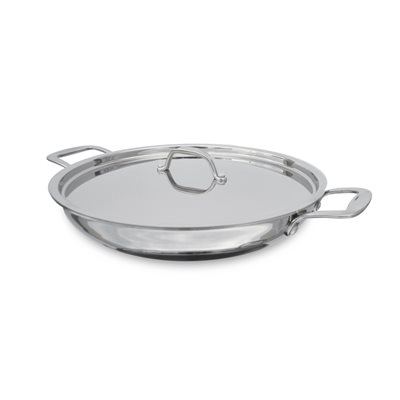 """PAN, PAELLA, INDUCTION, 12"""", WITH LID"""