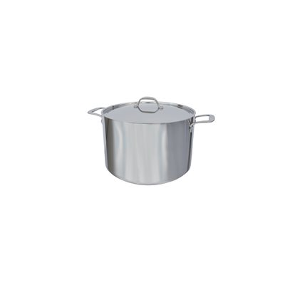 STOCK POT, 12 QT, INDUCTION, WITH LID